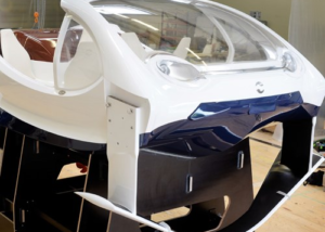 Thermoformed windscreens for prototype water taxi