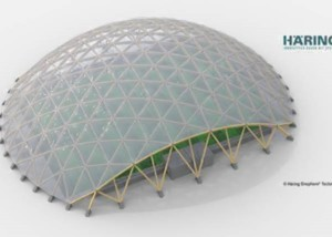 Manufacturing concept large curved dome panels