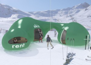 concept ski rental hut