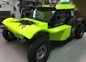 Racing buggy with composite panels