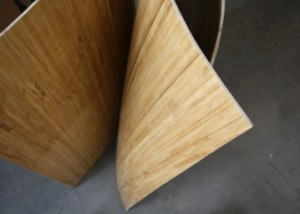 Curved wood panels