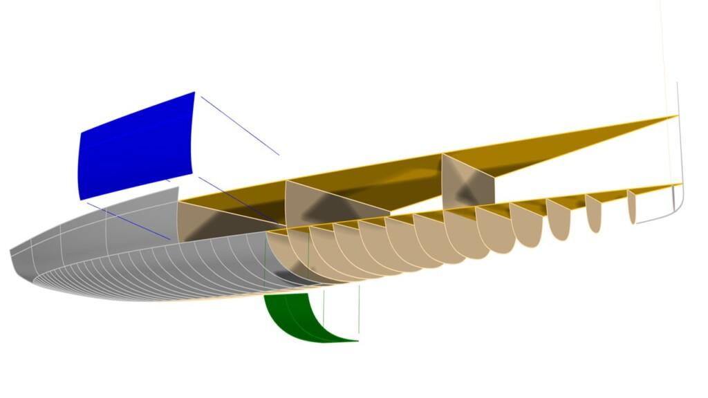 Render panel assembly boat